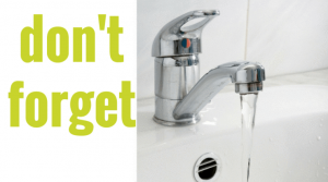 Don't forget to set up utilities, Water Faucet, Utilities, Buying a Home, Whidbey Island